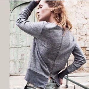 Madewell Zipper-back Sweatshirt Size S